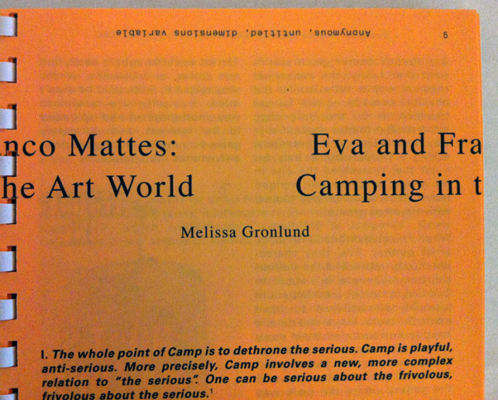 camping in the art world