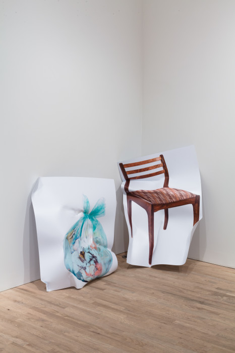 agreement n.2 trash bag wooden chair