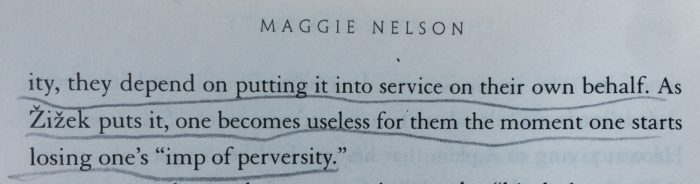 quote, Maggie Nelson, The Art of Cruelty, and there BOTTOM