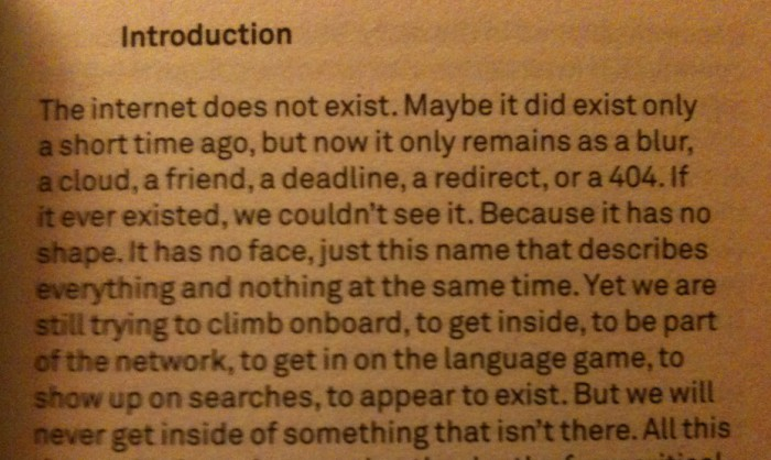 quote, aranda, wood, vidokle, the internet does not exist