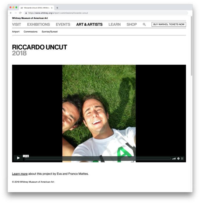 Eva and Franco Mattes, Riccardo Uncut