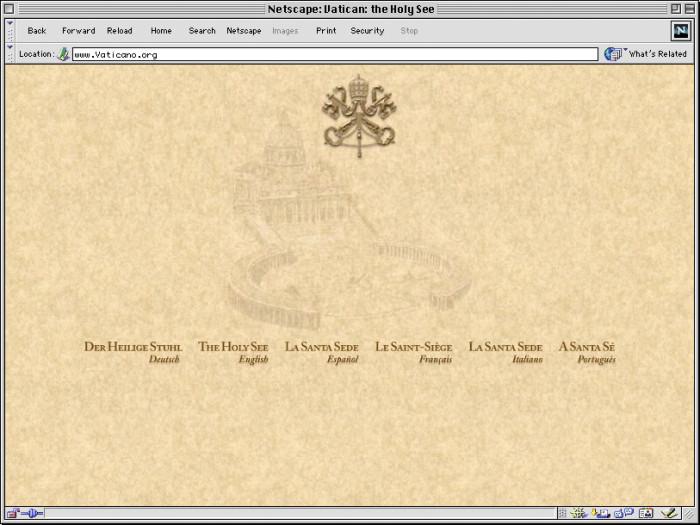 vaticano screenshot homepage