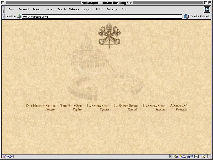 vaticano screenshot homepage